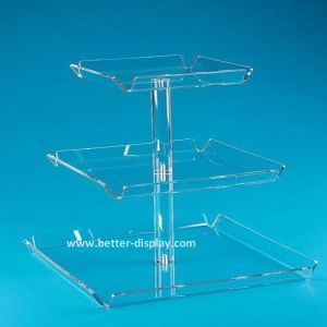 Acrylic Plastic Cake Tray for Wedding Cake (BTR-K3005) pictures & photos