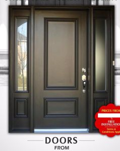 New Style High-End and Decorous American Panel Door Glass pictures & photos