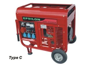 Open Frame Air-Cooled Diesel Generator (DG5500E) pictures & photos