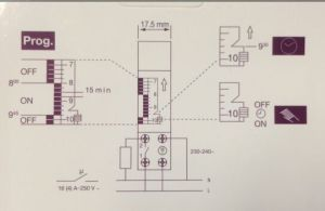 DIN Rail 24 Hour Mechanical Programmable Time Switch (SUL180A) pictures & photos