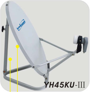 45cm Satellite Dish Antenna Ku Band with Triangle Base pictures & photos