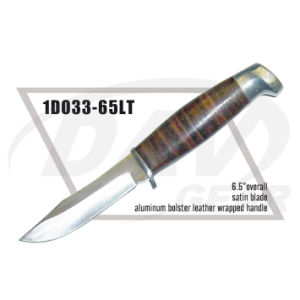 "6.5"" Overall Leather Wrapped Handle Dagger with Satin Blade: 1do33-65lt pictures & photos"