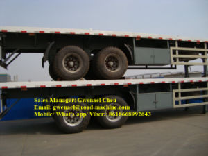 2 Axles 30 Tons Flatbed Semi Trailer, Container Trailer, Fuwa Axle pictures & photos