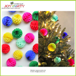 Tissue Paper Honeycomb Ball Christmas Tree Ornament pictures & photos