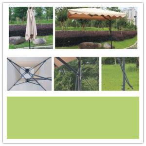 Hz-Um56 2.5X2.5meter Steel Wrench Umbrella Garden Umbrella Hanging Parasol Outdoor Umbrella Hanging Parasol pictures & photos