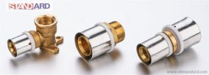 Brass Press Fitting with Plastic Ring for Pex-Al-Pex Pipe pictures & photos