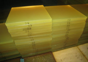 75 - 95 Shore a PU Sheet, Polyurethane Sheet Made with Yellow Transparent 100 % Virgin Polyether Material pictures & photos