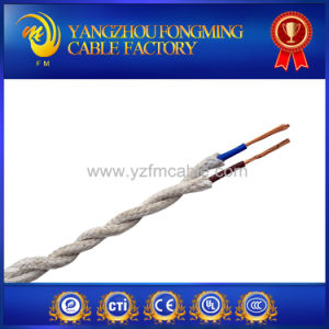 Two Cores Twisted Wire Braided Cable Copper Textile Wire pictures & photos