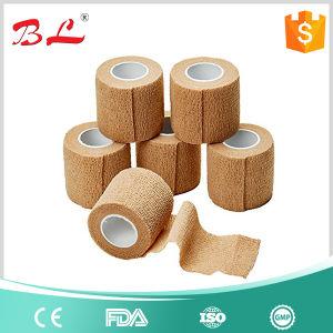 "2""X5yd Tan Flesh Cohesive Bandage Self Adherent Elastic Wrap Latex pictures & photos"