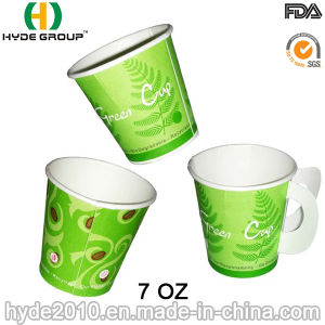 Paper Cup with Handle for Hot Coffee (7 oz-3) pictures & photos