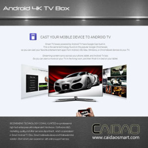 New Arrival 2.4G/5.8g Dual Band WiFi Bt Android 6.0 Smart TV Box Based on Cortex A53 64bit Processor. 2GB+8GB pictures & photos