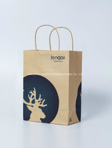 Competitive Kraft Paper Bag with Handle (gift bag/portable bag/shopping bag/garment bag and so on.) China Manufacturer