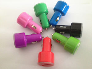 Custom Made Cheap Colorful High Quality Dual USB Car Charger pictures & photos