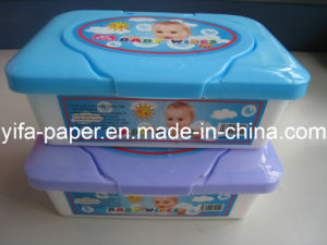 Baby Cleaning Wet Towel, with Plastic Container, Box Packing (BW-045) pictures & photos