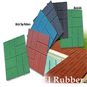 Rubber Bricks/ Recycled Rubber Flooring/ Brick Texture Rubber Tile (EN1177, SGS, IOS9001: 2000) pictures & photos