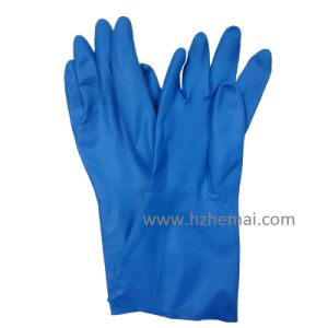 Bi-Color Gloves Neoprene Latex Gloves Safety Industry Work Glove pictures & photos