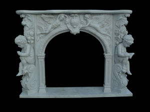 Angel Carving Fireplace (FRP334) pictures & photos