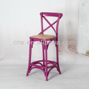 Rch-4003 Oak Furniture Pink Finishing Bar Stool Dining Chair Bar Chair pictures & photos