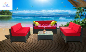 Hz-Bt97 Rio Patio Set Outdoor Patio Rattan Sofa Wicker Sectional Sofa Garden Furniture Set pictures & photos