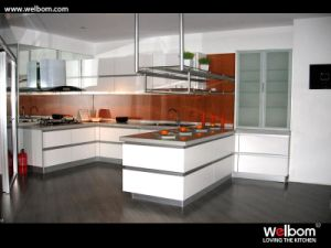 2015 [ Welbom ] Island Design Melamine Kitchen Door Cabinet pictures & photos