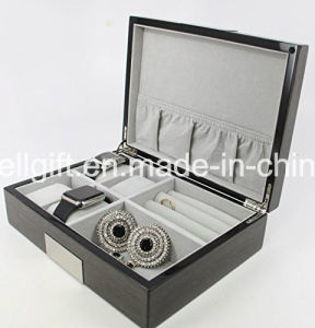High Class Gift Cufflink Ring Packaging Organizer Men′s Jewelry Box pictures & photos