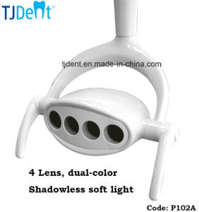 4 LED Lens Shadowless Dual Color Dental Operation Lamp (P102A) pictures & photos