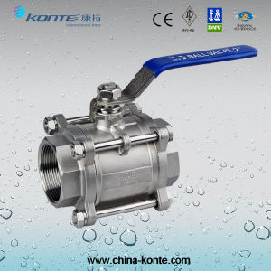 1000 Wog 3PC Threaded Ball Valve Without Lock Device pictures & photos