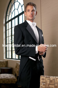 Custom Black Suits Tailcoat Men′s Swallowtail for 2 Pieces (Coat +Pants) Wedding Suit Mc20 pictures & photos