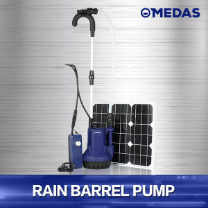 Submersible Rain Barrel Water 65 Watt Pump with Solar Panel pictures & photos