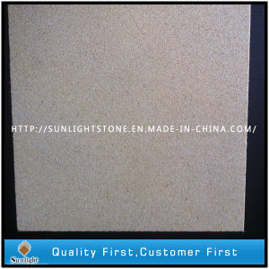 Bushhammered Yellow Sandstone for Flooring Tiles pictures & photos
