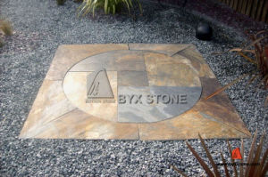 Chinese Rusty Circle Paving Slate for Patio Decoration pictures & photos