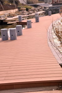 Wood Plastic Composite Decking Engineering pictures & photos