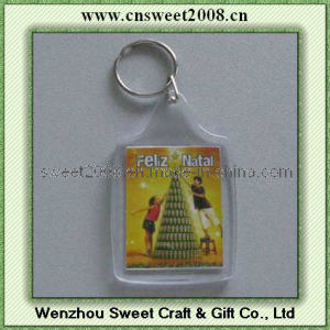 Custom Printed Plastic Keychain for Promotion (KYC23066) pictures & photos