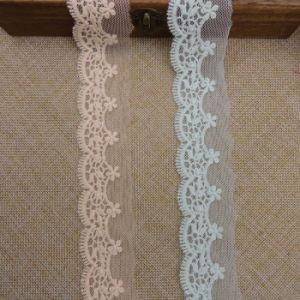 High Quality Bleach White Embroidery Lace for Garments pictures & photos