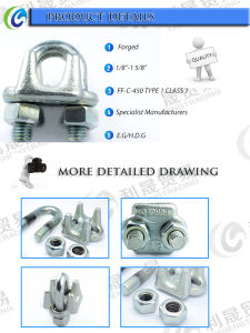 U. S Type Drop Forged Cable Wire Rope Clip pictures & photos