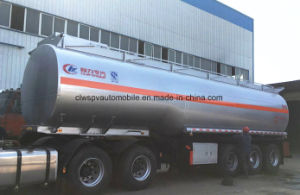 3 Axles Crude Oil Steel Semi Trailer 40000 L Fuel Tanker Peice pictures & photos