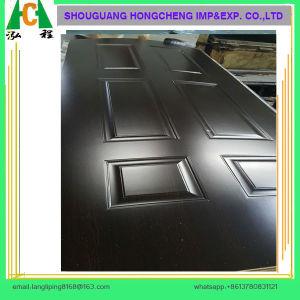 Natural Veneer Faced HDF Mould Door Skin pictures & photos
