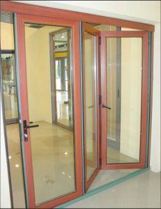 Alu-Wood Bi-Folding Door with Multi-Leaf pictures & photos