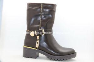 OEM Fashion Multi Design Low Heel Women Rain Boots pictures & photos