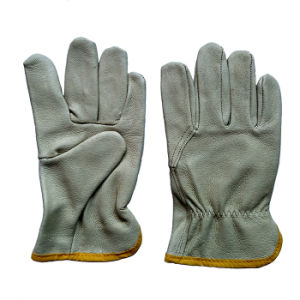 Pig Grain Leather Working Safety Drivers Gloves for Driving pictures & photos