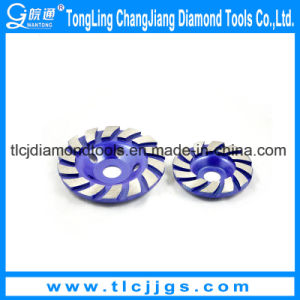 Single Row Stone Diamond Cup Abrasive Grinding Wheel pictures & photos
