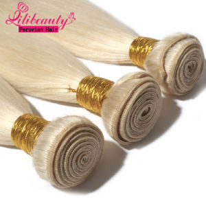 Blonde Hair Extensions Peruvian Hair Weft pictures & photos