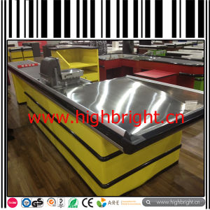Stainless Steel High Quality Cashier Counter Table for Shopping Mall pictures & photos