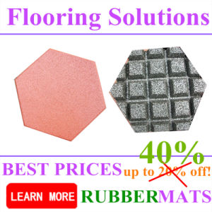 Hexagonal Shape Rubber Tiles for Outdoor Park Playground Flooring pictures & photos
