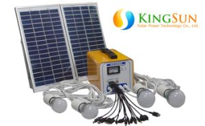 Battery Charger, Inverter, LED Lights, Mini Photovoltaic Solar Power System pictures & photos