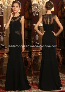 Black Lace Prom Party Gowns Sheath Evening Ladies Dresses Z605 pictures & photos