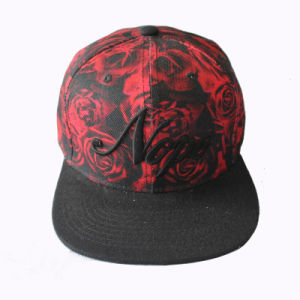 Sublimation Rose Snapback Cap with 3D Embroidery (GKA15-F00037) pictures & photos