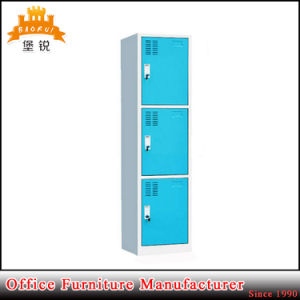 Low Price Colorful 3 Compartment Steel Locker pictures & photos