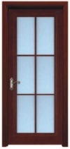 High Quality Glass Wooden Door for Kitchen Room