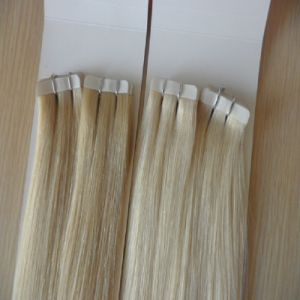 Brazilian Cuticle Remy Virgin Human PU Tape Hair Extension pictures & photos